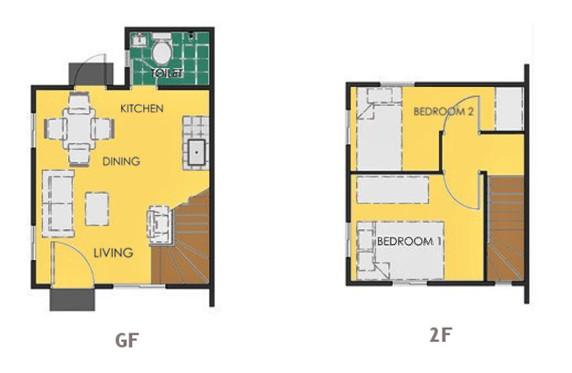 Ravena Floor Plan House and Lot in Dumaguete