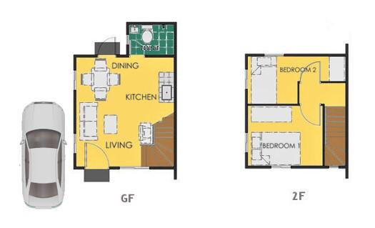 Reva Floor Plan House and Lot in Dumaguete