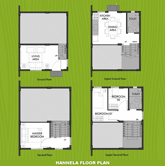 Hannela Floor Plan House and Lot in Dumaguete