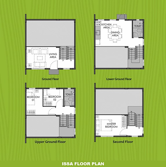 Issa Floor Plan House and Lot in Dumaguete