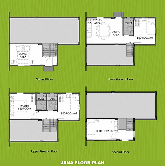 Janna Floor Plan House and Lot in Dumaguete