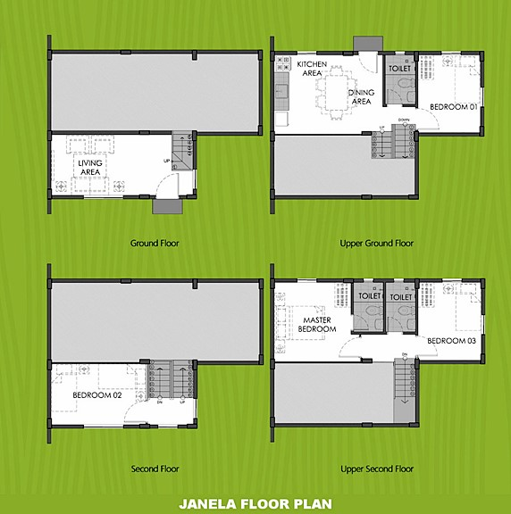 Janela Floor Plan House and Lot in Dumaguete