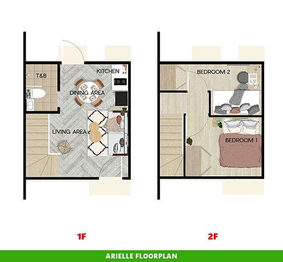 Arielle Floor Plan House and Lot in Dumaguete