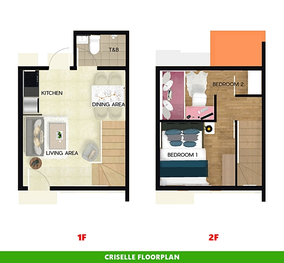 Criselle Floor Plan House and Lot in Dumaguete