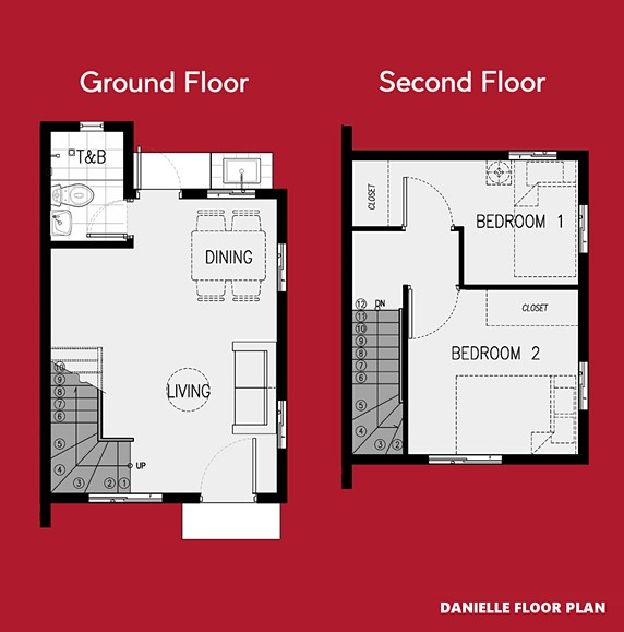 Danielle Floor Plan House and Lot in Dumaguete
