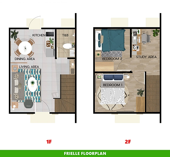 Frielle Floor Plan House and Lot in Dumaguete